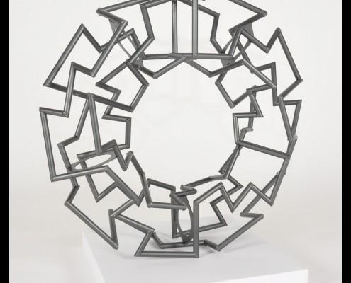 "Imagen final escultura ""Moebius Segmentado"""